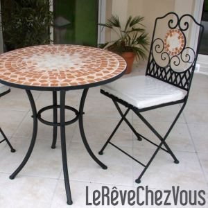 table de jardin mosaique comparer 144 offres. Black Bedroom Furniture Sets. Home Design Ideas