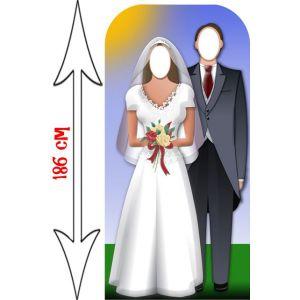 Star Cutouts Passe-tête couple de mariés (186 cm)