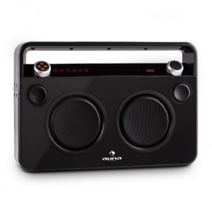 Auna Bebop Ghettoblaster - Poste USB Bluetooth AUX MIC batterie intégrée