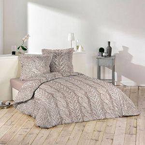 La Maison d'Amélie Torsade - Parure de couette 100% coton 57 fils (220 x 240 cm)