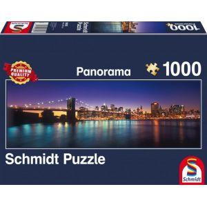 Schmidt Puzzle Panorama Les lumières de New York (1000 pièces)