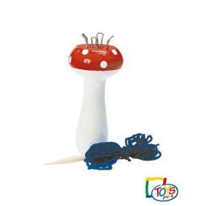 Toys Pure GK 427 - Champignon à tricoter avec aiguille en bois et fil