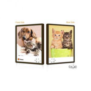 Pintoo Chats et chien - Puzzle push double face 48 pièces en plastique