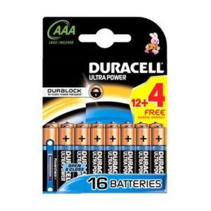 Duracell 16 piles Ultra Power LR03 AAA Duralock