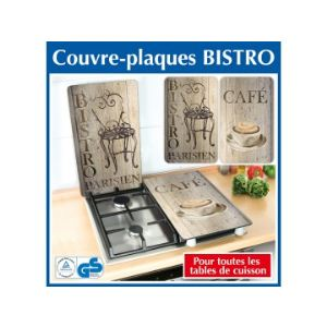 Wenko 2 couvres plaques de cuisson universels Bistrot