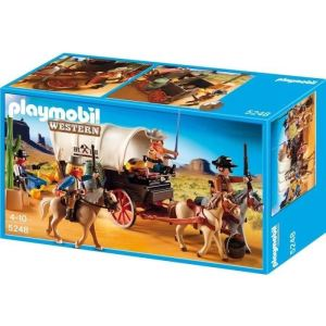 Playmobil 5248 Western - Chariot avec Cow-Boys et bandits