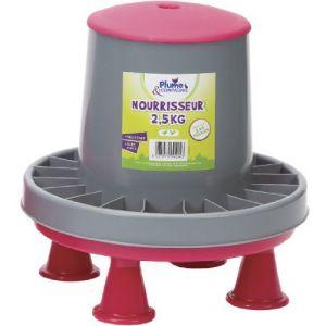 Plume & compagnie Nourrisseur plastique sur pieds 2.5 kg