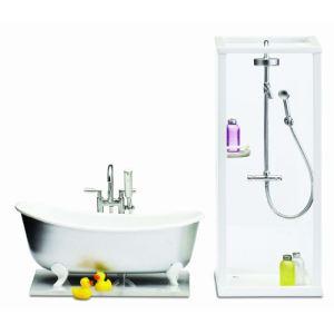 Lundby Ensemble douche et baignoire Smaland pour maison de poupée (L602053)