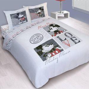 38445 parure housse de couette mickey love vintage 220 x 240 cm comparer les prix avec. Black Bedroom Furniture Sets. Home Design Ideas
