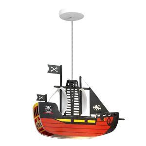 Lampe suspension enfant Bateau de Pirates