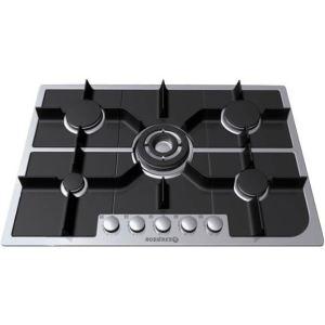 Rosi res rtg 75 sqd table de cuisson gaz fusion 5 foyers - Table cuisson rosieres gaz ...