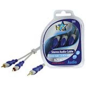 Nds HQSA-040-0.7 - Câble standard jack 3,5 mm stéréo mâle / 2x RCA mâle 0,70m