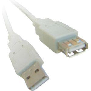Rallonge USB 2.0 A/A mâle-femelle 1,80 m