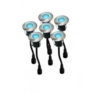 Easy Connect 65411 - 6 spots mini LED à encastrer pour terrasse en bois