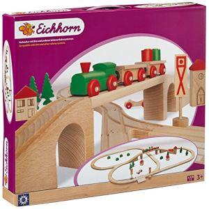 Eichhorn Circuit de chemins de fer avec pont 55 pièces