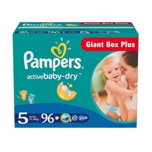 Pampers Active Baby Dry taille 5 (11-18 kg) - 96 couches