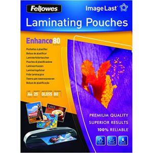Fellowes 25 pochettes de plastification à chaud format A4 (80 µ)