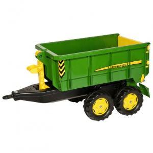 Rolly Toys Remorque à container John Deere pour tracteur à pédales
