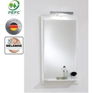 Miroir de salle de bains Lerida 5 avec éclairage halogène