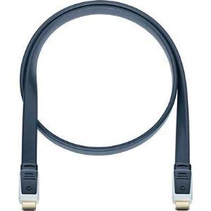 Oehlbach 2483 - Câble Flat Magic 220 HDMI avec prise d'Ethernet 2,20 m