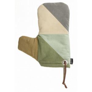Ferm Living Gant de cuisine Triangle en coton organique et polyester (13 x 26 cm)