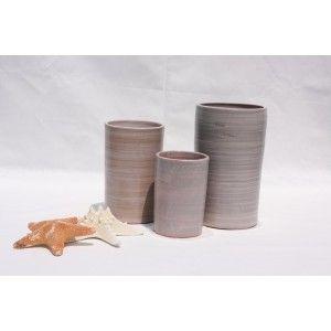 Clair de Terre Tamarin - Poterie en terre cuite émaillée forme pot droit Ø11 x 17 cm