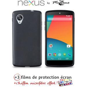 Muzzano Le Glossy - Coque souple Ultra Fine pour Google Nexus 5 + 3 Films de protection écran
