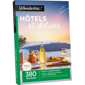 Wonderbox h tels et d lices coffret cadeau comparer for Hotel comparateur de prix