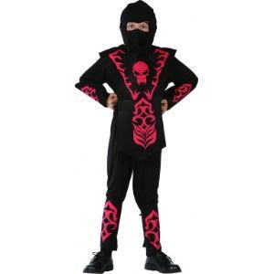 Déguisement ninja rouge et noir (taille au choix)
