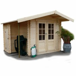 Solid S8351 - Abri de jardin Joigny avec remise en bois 28 mm 5,66 m2