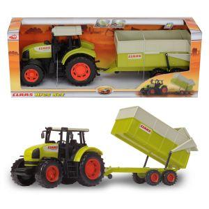 Dickie Toys Tracteur Claas Ares avec remorque