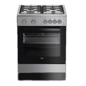 Beko CUM651X - Cuisinière mixte 4 foyers gaz avec four électrique