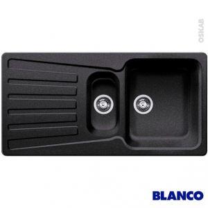 Blanco Evier Nova 6 S en Silgranit avec 2 cuves (100 x 50 cm)