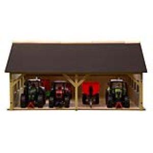 Kids Globe Hangar en bois pour tracteurs Siku et Britains