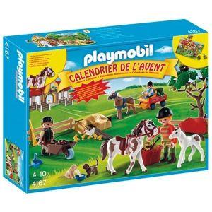 Playmobil 4167 - Calendrier de l'avent : Ferme équestre avec suprises inédites