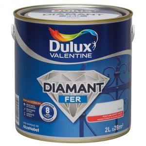 dulux valentine peinture diamant fer 2 litres comparer avec. Black Bedroom Furniture Sets. Home Design Ideas