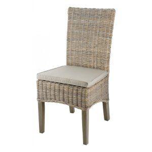 Inwood 2 chaises en Kubu tressé avec pieds en Acacia