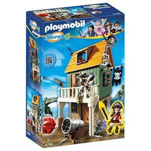 Playmobil 4796 Super4 - Fort des pirates camouflé avec Ruby