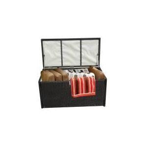 Imagin Coffre de rangement en résine tressée 102 x 50 x 50 cm