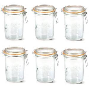 Le Parfait 1978005 - 6 terrines en verre avec couvercle (1 kg)