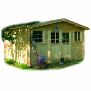 Solid S828 - Abri de jardin Sion en bois 28 mm 12,01 m2