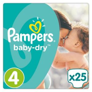 Pampers Baby Dry taille 4 Maxi 8-16 kg - 25 couches