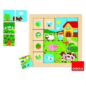 Goula Puzzle Ferme 16 pièces