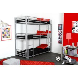 lit enfant metal 90x190 comparer 130 offres. Black Bedroom Furniture Sets. Home Design Ideas