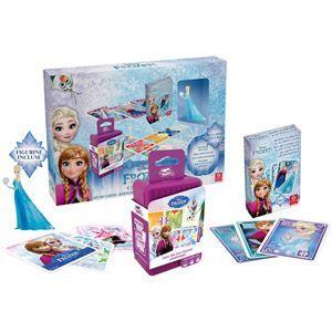 Cartamundi La Reine des Neiges : Coffret Cadeau 2 jeux + Figurine