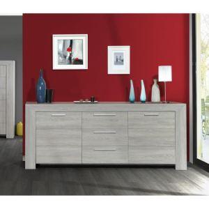 Bahut Marry 3 portes 1 tiroir en bois (90 x 220 cm)