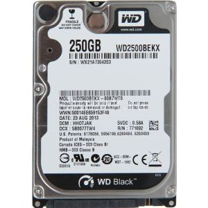 "Western Digital WD2500BEKX - Disque dur interne 250 Go 2.5"" SATA III 7200 rpm"