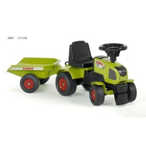 Falk Porteur tracteur Claas Axos 310 avec remorque