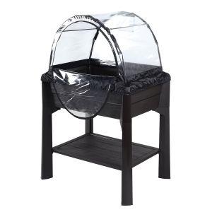 Eda Plastiques Carré potager végé-table avec serre amovible en kit