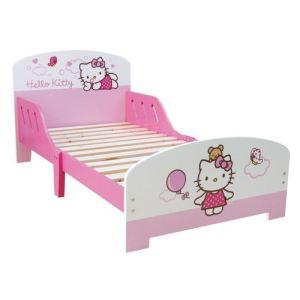 Fun House Lit enfant Hello Kitty en bois avec rehausse de sécurité (70 x 140 cm)